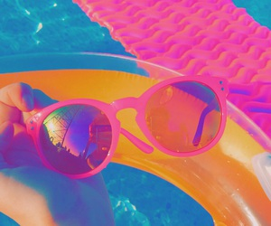 pool, summer, and sunglasses image
