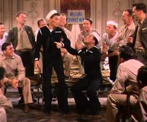 frank sinatra, Gene Kelly, and anchors aweigh image