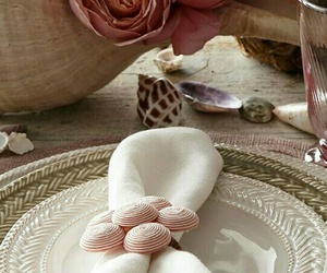 home decor, pink, and place setting image
