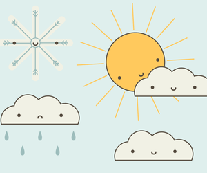 clouds, illustration, and rain image