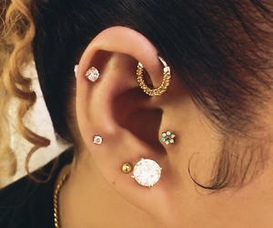 helix, ear piercings, and forward helix image