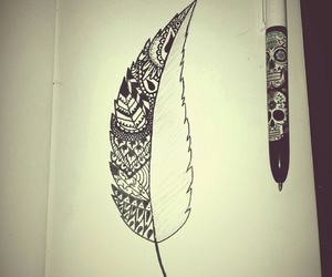 art, black, and pen image