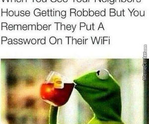 funny, wifi, and kermit image