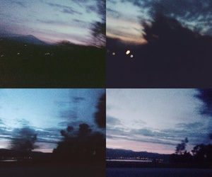 clouds, drive, and night image