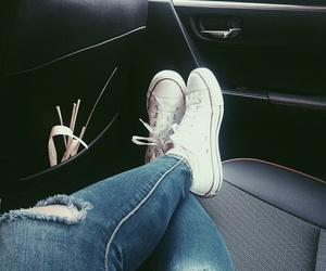 converse, white, and Toyota image