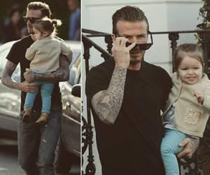 beautiful, David Beckham, and daddys girl image
