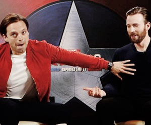 chris evans, sebastian stan, and winter soldier image
