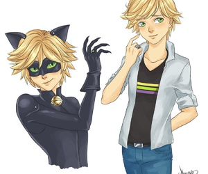 adrian, Adrien, and Chat Noir image