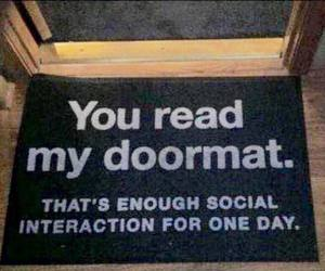 funny, doormat, and lol image