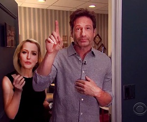 dana scully, david duchovny, and fox mulder image