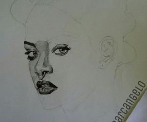 draw, rihanna, and workinprogress image