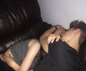 boy and girl, kiss, and love image