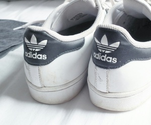 adidas, blackandwhite, and shoes image