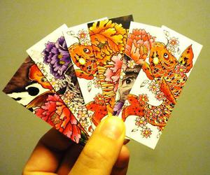 card, cherry blossom, and japan image