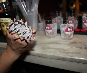 drinks, glass, and pow image