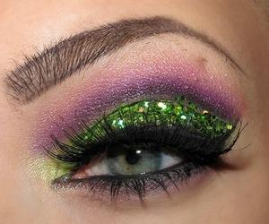 glitter and make up image