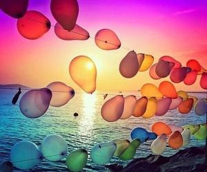 balloons, sea, and summer image