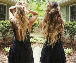 hair, dress, and friends image