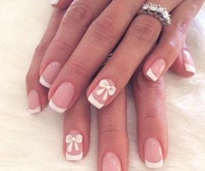 nails, french, and nail art image
