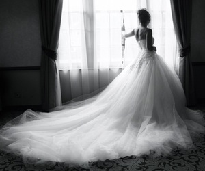 dress, wedding, and wedding dress image