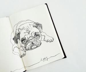art, artist, and dog image