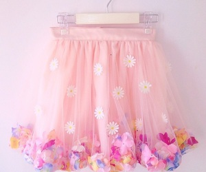 flower, skirt, and girly image