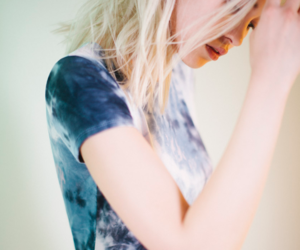 blonde, hair, and tie dyed image
