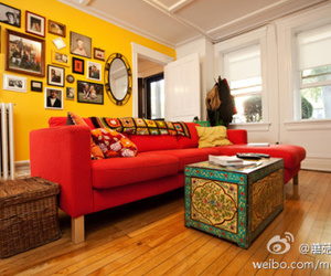 decor, house, and red image