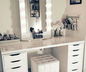 fashion, mirror, and table image