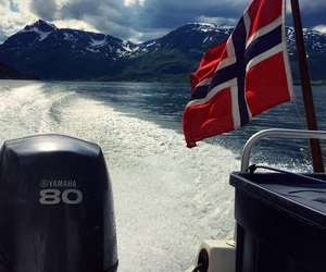 arctic, boat, and flag image