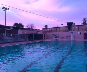 pool, grunge, and sky image