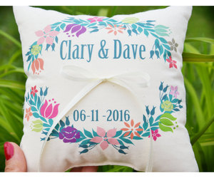 etsy, personalized pillow, and ring bearer pillow image
