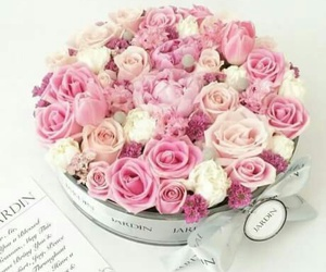 flowers, gift, and love image