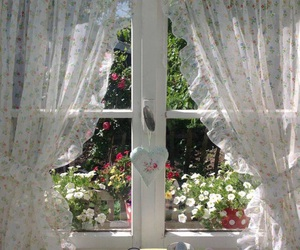 window, aesthetic, and flowers image