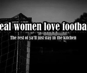 football, women, and love image
