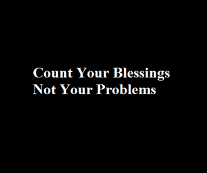 blessings and blessings problems image
