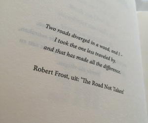book, robert frost, and quote image