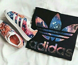 adidas, shoes, and galaxy image
