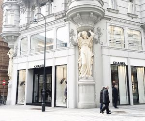 chanel, white, and architecture image