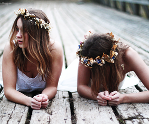 beauty, crown, and friendship image