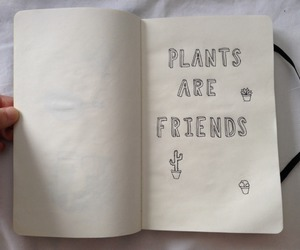 plants, friends, and book image