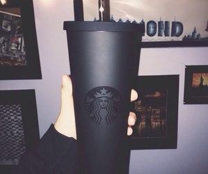black, starbucks, and drink image