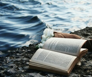 book, ocean, and sea image
