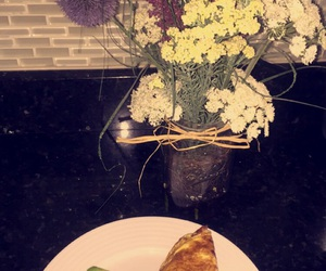 bouquet, flowers, and breakfast image
