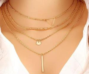beauty, gift, and gold necklace image