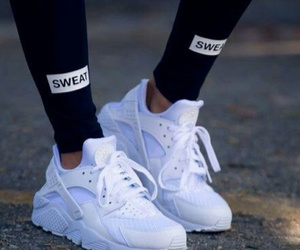 shoes, nike, and white image