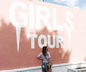 girl, pink, and tour image