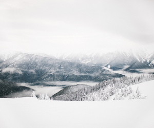 snow, mountains, and 5d image