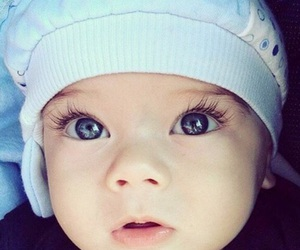 baby, blue eyes, and sweet image