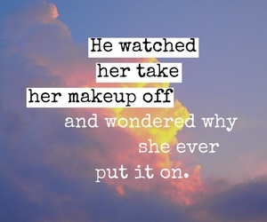 love, quotes, and makeup image